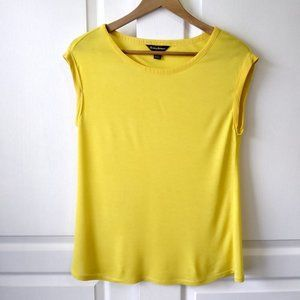 Tommy Bahama Yellow Cap Sleeve Top Size M